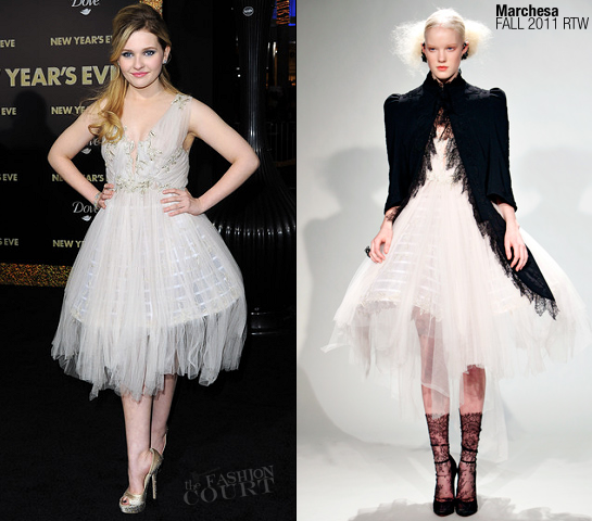 Abigail Breslin in Marchesa | 'New Year's Eve' LA Premiere