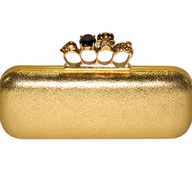Alexander McQueen Knuckle Duster Long Box Clutch