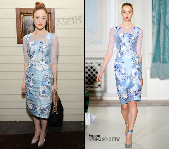 Andrea Riseborough in Erdem | BVLGARI Celebrates the Holidays