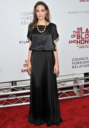 "Angelina Jolie in Ralph Lauren & Joseph | ""In The Land Of Blood And Honey"" NY Premiere"