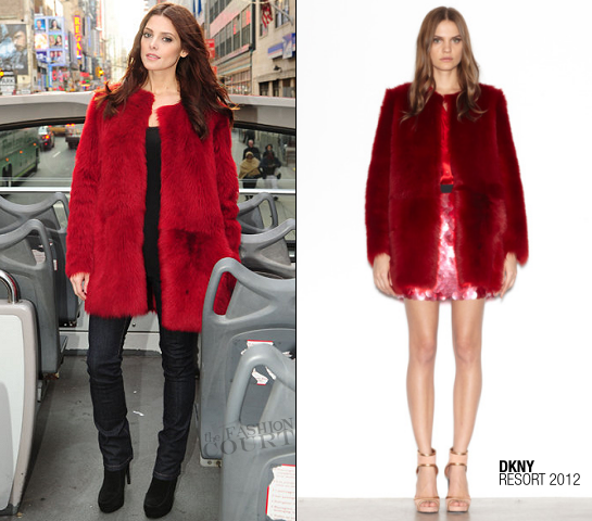 Ashley Greene in DKNY | DKNY Jeans Times Square Billboard Unveiling