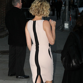 Charlize Theron in Antonio Berardi | 'Late Show with David Letterman'