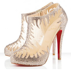 Christian Louboutin for Marchesa - Fall/Winter 2010 - MARALE Strass Ankle Boots