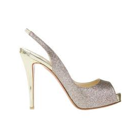 Christian Louboutin PRIVE Glittered Slingback Sandal