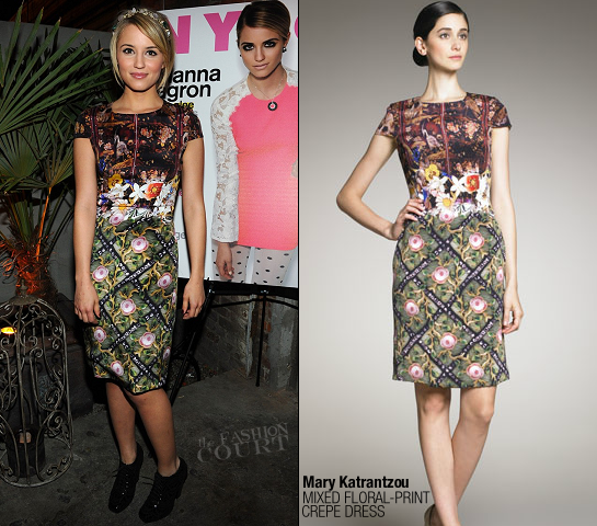 Dianna Agron in Mary Katrantzou | NYLON Dec./Jan. Issue Celebration