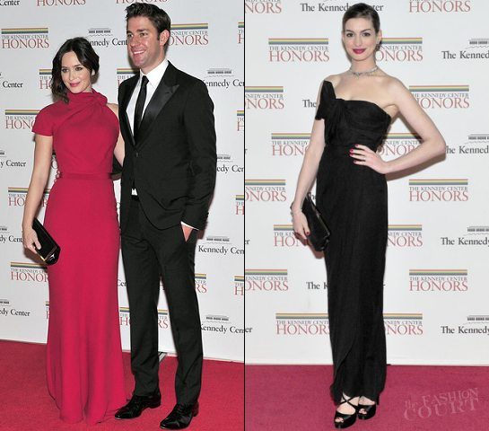 Emily Blunt & Anne Hathaway in Giambattista Valli | 2011 Kennedy Center Honors Gala Dinner