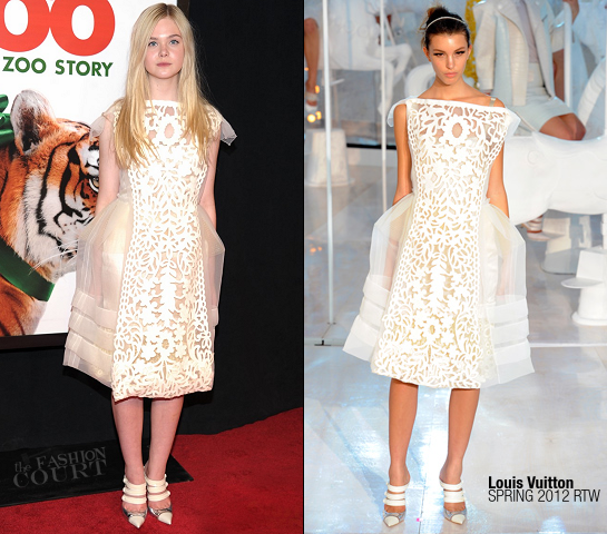 Elle Fanning in Louis Vuitton | 'We Bought A Zoo' NY Premiere