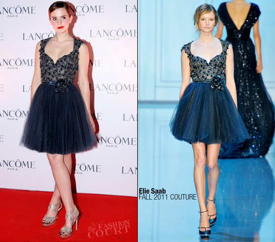 Emma Watson in Elie Saab | Lancome VIP Dinner in Hong Kong