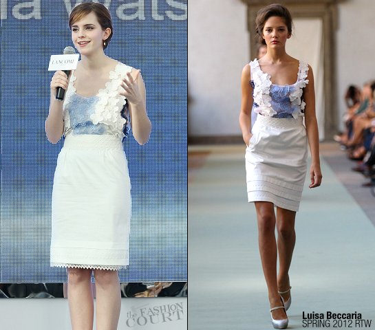 Emma Watson in Luisa Beccaria | Lancome Hong Kong Press Conference