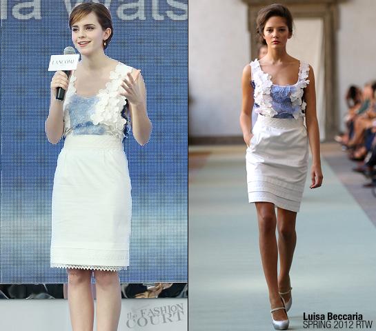 Emma Watson in Luisa Beccaria | Lancome Hong Kong Press Conference