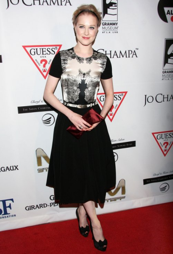 Evan Rachel Wood in Preen | Andrea Bocelli Launches The Andrea Bocelli Foundation