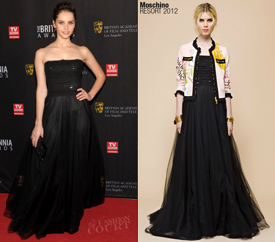 Felicity Jones in Moschino | BAFTA Los Angeles 2011 Britannia Awards