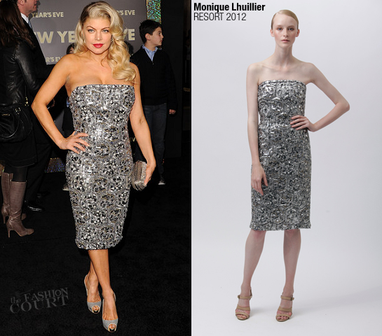 Fergie in Monique Lhuillier | 'New Year's Eve' LA Premiere