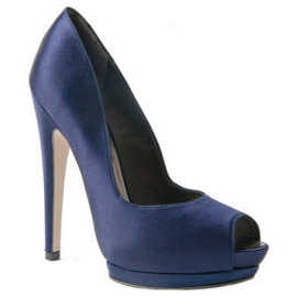 Salvatore Ferragamo Double Platform Peep Toe Pumps
