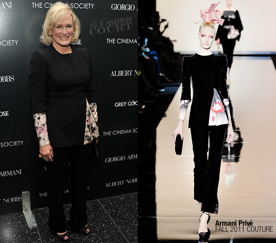 Glenn Close in Armani Prive | 'Albert Nobbs' NY Screening