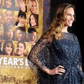 Hilary Swank in Elie Saab | 'New Year's Eve' LA Premiere