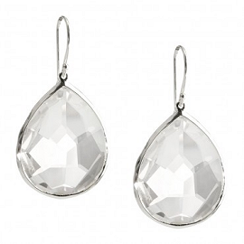 Ippolita Large Teardrop Earrings in Clear Quartz