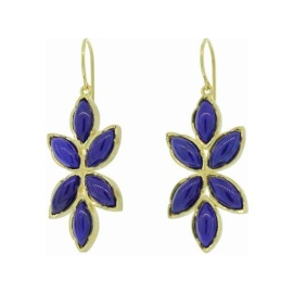 Irene Neuwirth Marquis Flower Drop Earrings