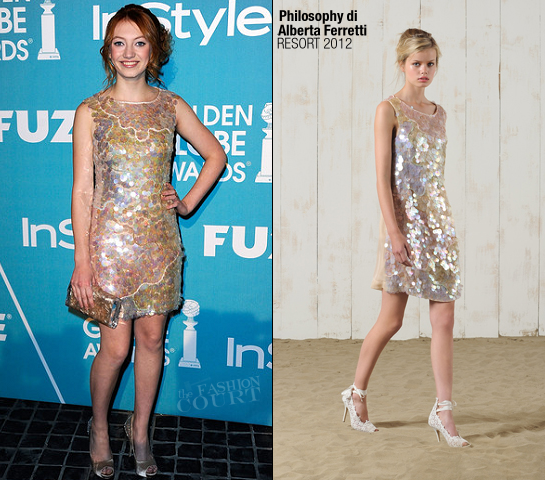 Jacqueline Emerson in Philosophy di Alberta Ferretti | HFPA/InStyle's 'A Night Of Firsts' Event