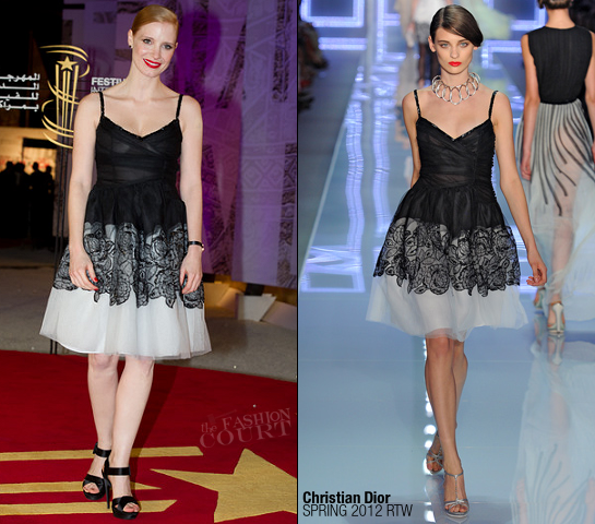 Jessica Chastain in Christian Dior | Marrakech International Film Festival 2011 - Opening Ceremony
