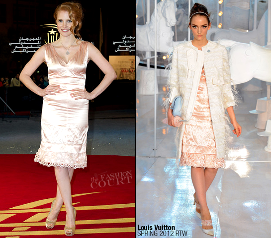 Jessica Chastain in Louis Vuitton | 2011 MIFF - Tribute To Forest Whitaker