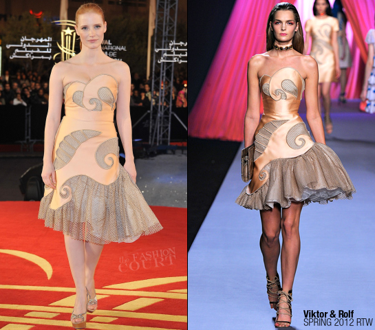 Jessica Chastain in Viktor & Rolf | 2011 MIFF - Closing Ceremony