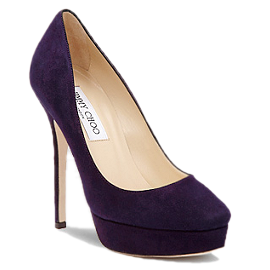Jimmy Choo Suede COSMIC Platform Pumps