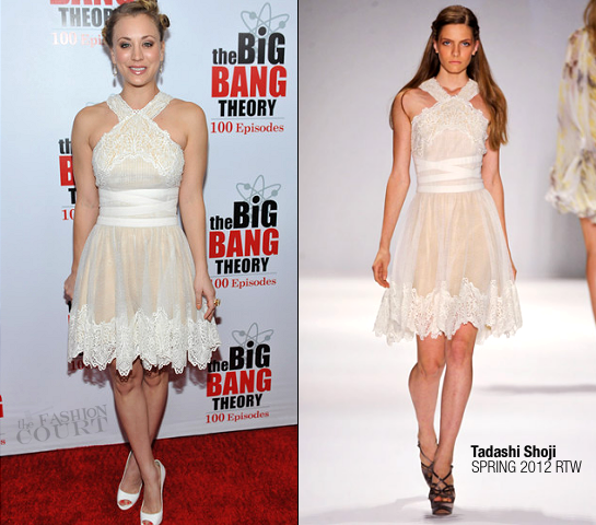 Kaley Cuoco in Tadashi Shoji | 'The Big Bang Theory' 100th Episode Celebration