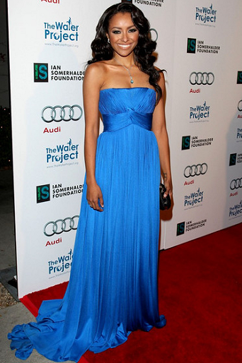 Kat Graham in Lloyd Klein Couture | The Ripple Effect Charity Event
