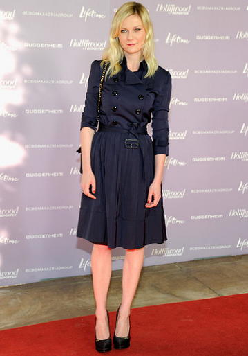 Kirsten Dunst in Burberry | Power 100: Women In Entertainment Breakfast