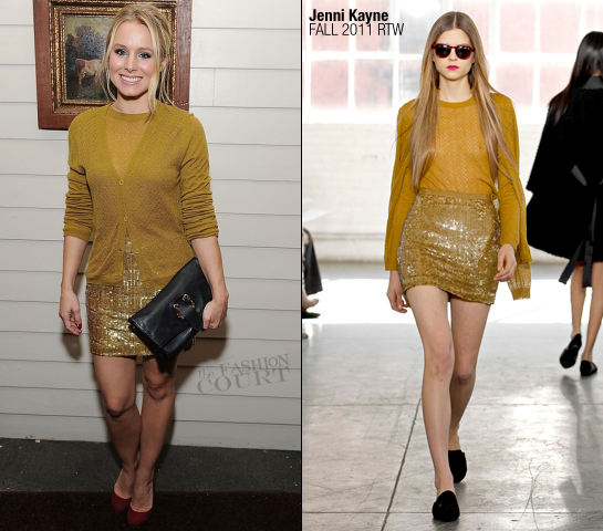 Kristen Bell in Jenni Kayne | BVLGARI Celebrates the Holidays