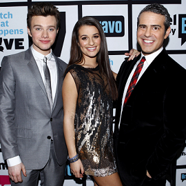 Chris Colfer, Lea Michele and Andy Cohen | Bravo's 'Watch What Happens Live'