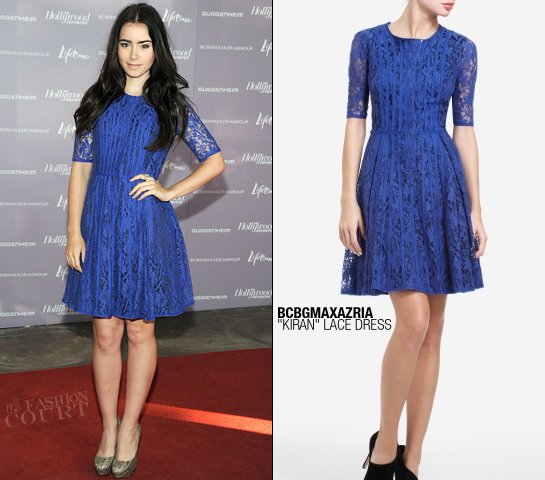 Lily Collins in BCBGMAXAZRIA | Power 100: Women In Entertainment Breakfast