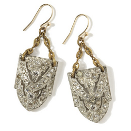 Lulu Frost Vintage Deco Earrings
