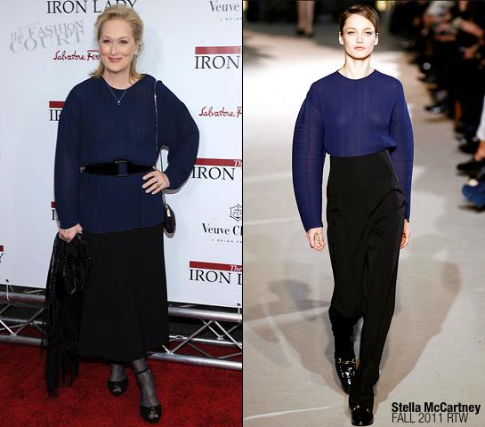 Meryl Streep in Stella McCartney | 'The Iron Lady' NY Premiere