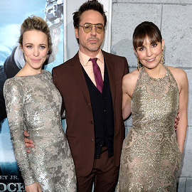 Rachel McAdams, Robert Downey Jr. & Noomi Rapace | 'Sherlock Holmes: A Game Of Shadows' Premiere