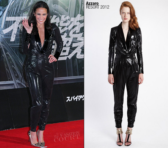 Paula Patton in Azzaro | 'Mission: Impossible - Ghost Protocol' Tokyo Premiere