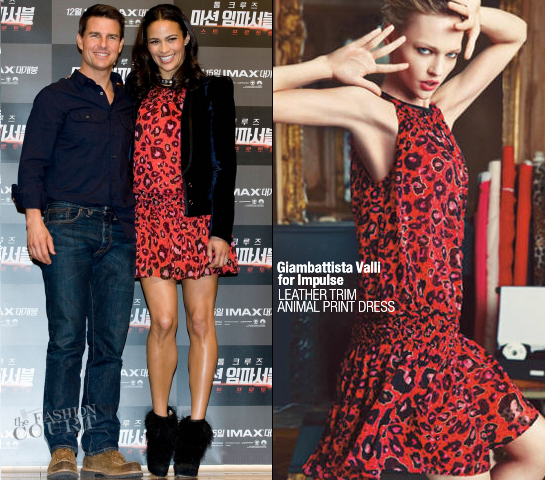 Paula Patton in Giambattista Valli for Impulse | 'Mission: Impossible - Ghost Protocol' Seoul Press Conference