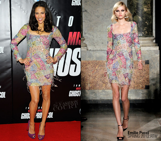 Paula Patton in Emilio Pucci | 'Mission: Impossible - Ghost Protocol' NY Premiere