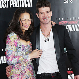 Paula Patton and Robin Thicke | 'Mission: Impossible - Ghost Protocol' NY Premiere
