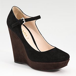 Prada Bi-Color Mary Jane Wedge