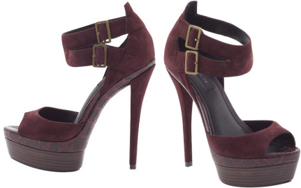 Rachel Zoe DEMI Platform Suede Sandals