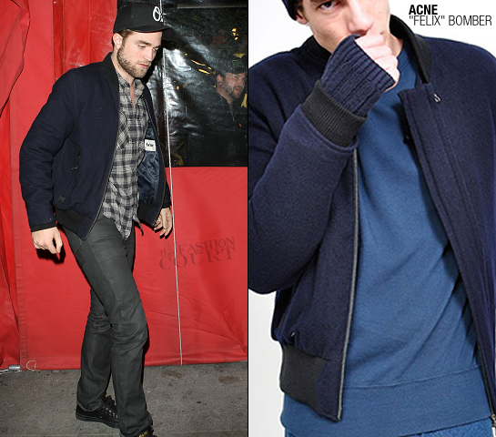 Robert Pattinson wears the 'FELIX' Bomber by ACNE!