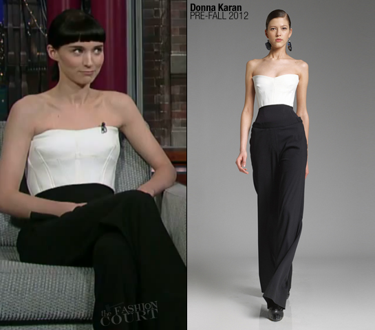 Rooney Mara in Donna Karan | 'Late Show with David Letterman'