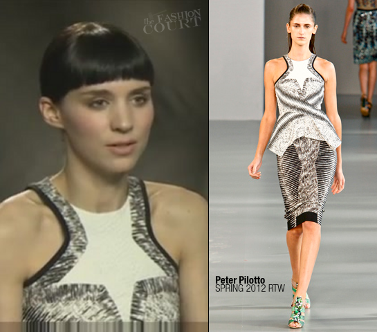 Rooney Mara in Peter Pilotto | 'The Girl with the Dragon Tattoo' Press Junket