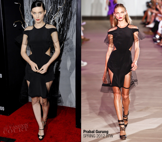 Rooney Mara in Prabal Gurung | 'The Girl with the Dragon Tattoo' NY Premiere