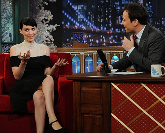 Rooney Mara in Rodarte x Opening Ceremony | 'Late Night with Jimmy Fallon'