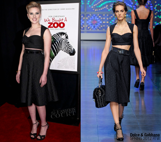 Scarlett Johansson in Dolce & Gabbana | 'We Bought A Zoo' NY Premiere