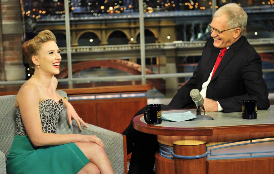 Scarlett Johansson in Proenza Schouler | 'Late Show with David Letterman'