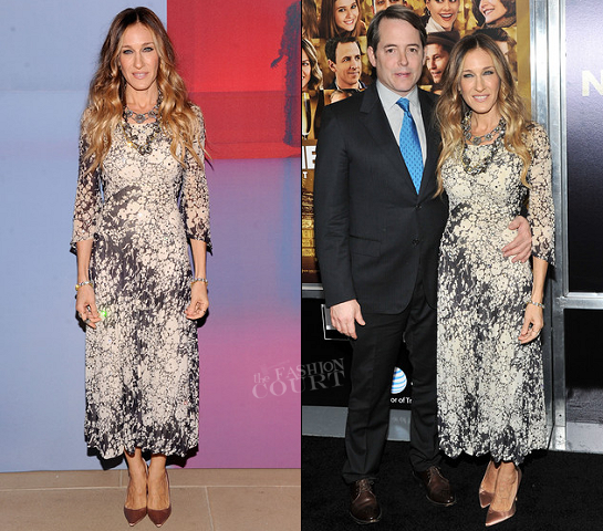 Sarah Jessica Parker in Pauline Trigere | 'New Year's Eve' NY Premiere